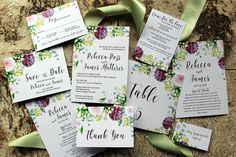 Downloadable Purple and Green Bohemian Floral & by DColovenotes