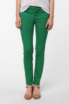 BDG Ankle Cigarette Mid-Rise Jean - Green  #UrbanOutfitters