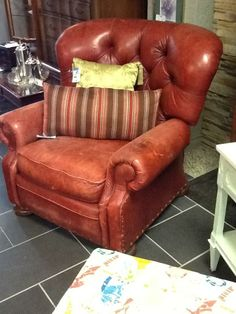 Leather Chair  comes apart condition noted Location: Hamilton Categories: Occasional Chairs $192.40 + tax Item #: 15430