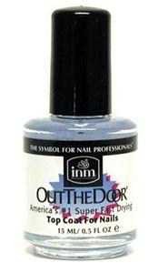 . Лучшее верхнее покрытие для ногтей, лучшее быстросохнущее верхнее покрытие для ногтей: INM Out The Door