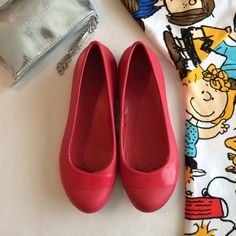 fb4dee3aa86e Crocs red flats Crocs Gianna flats in red pepper color. Size 7 standard fit