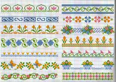 Crochet Border Stitch Floral borders from Punto a Croce 21 - Speciale Bordure Gallery. Cross Stitch Boarders, Tiny Cross Stitch, Simple Cross Stitch, Cross Stitch Flowers, Cross Stitch Designs, Cross Stitching, Cross Stitch Embroidery, Cross Stitch Patterns, Knitting Charts