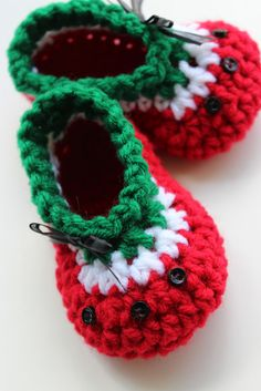 Ravelry: Baby Oh Baby Watermelon Shoes pattern by Kris Moore