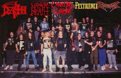 Death, Napalm Death, Cannibal Corpse, Pestilence & Dismember