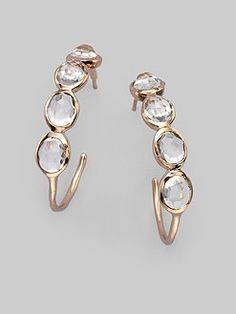 Ippolita Clear Quartz & Rose Earrings