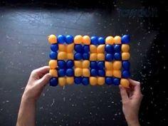 Checkered Flag Balloon Weaving - YouTube