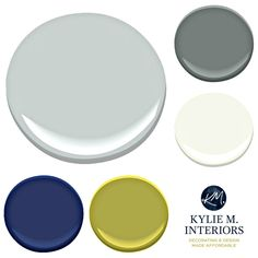 Paint Colour palette ideas for a boys or teenage boy bedroom using gray owl. Kylie M INteriors E-design