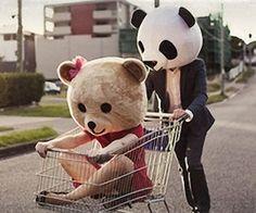 Couples Panda & Teddy Bear Masks