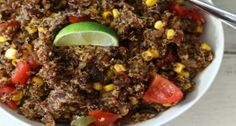 A spicy, smokey southwestern quinoa style salad made with black beans, corn, lime juice and chipotle peppers.