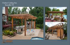 Image result for outdoor cooking area Outdoor Cooking Area, Outdoor Living, Outdoor Decor, Pergola, Outdoors, Outdoor Structures, Garden, Image, Home Decor