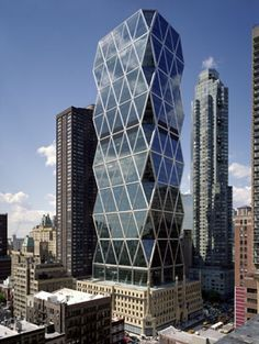 Love the diamond shaped panels. Google Image Result for http://planacruise.net/wp-content/uploads/2012/04/Hearst-Tower-NYC.jpg