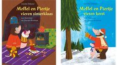 Dubbelboek: Moffel en Piertje vieren Sinterklaas + Moffel en Piertje vieren kerst - Lieneke Dijkzeul - #voorleesverhalen #jeugdboeken #kerst #sinterklaas - plaatsnr. JB DIJK /001
