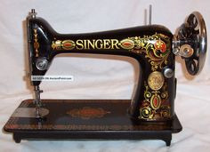 Rare Serviced Antique 1923 Singer 66 - 4 Red Eye Treadle Sewing ...