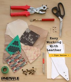 Simple tips for leather craft:  Part 1: Choosing the right leather for your project  Part 2: Tracing the sewing pattern onto your leather  Part 3: Leather Sewing Tips & Tricks