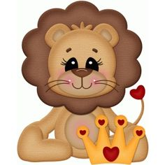 valentine heart lion