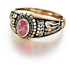 Custom personalized class rings from #Jostens Achiever Collection.
