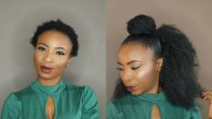 How To   Crochet Half Up Half Down on Short Natural Hair