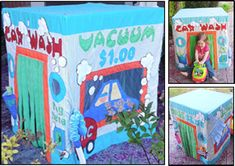 "Card Table Playhouse Pattern ""Car Wash"" - Click Image to Close"