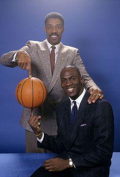 Michael Jordan and Dr. J Julius Erving