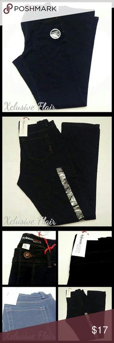 New Curvy Tummy Control Jeans * Belt loops * Front button and zipper closure * Front and back pockets * Tummy panel holds you in * Mid rise * Super stretch * Modern boot cut Style & Co Jeans Boot Cut