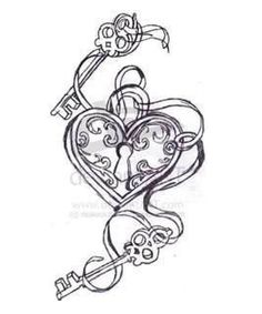 Heart Locket To Be Incorporated Somehow I May Also Get The Skeleton Key With Skull Instead Of For Fact Theme Tattoo Life