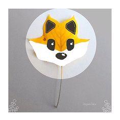 Petit renard-feuille du jour Little leaf-fox of the day #flowleaf2015 #leaves…
