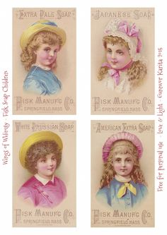 Victorian Fisk Soap Trade Card Children ~ Wings of Whimsy