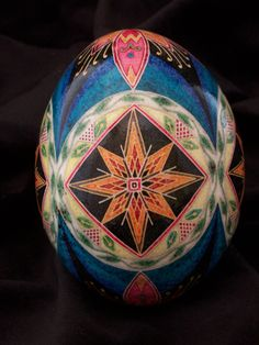 Etched Pysanky Goose Egg. $50.00, via Etsy.