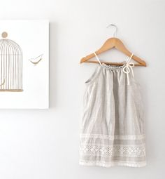 Toddler Girls Pure Natural Linen and Lace Dress-Baby Sundress-Birthday Wear-Eco Friendly Clothing-Handmade Children Clothing by Chasing Mini