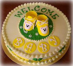 BUTTER CREAM BABYSHOWWER CAKES | baby shower cake red velvet cake with swiss meringue buttercream ...
