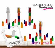 KIDS-148 Set de puntero con crayones Tamaño: 11.4x1.7 cm