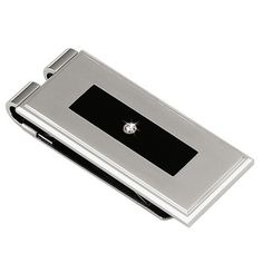 $95.00(CLICK IMAGE TWICE FOR UPDATED PRICING AND INFO)  STEL Stainless Steel Black Enamel and Diamond Money Clip - See More  Valentines Gift for Men at http://www.zbuys.com/level.php?node=6089=valentines-gift-ideas-for-men