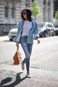 French Connection Slouchy Western Denim Jacket styled by 9 to 5 Chic