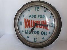 винтажный Valvoline моторное масло реклама часы газ знак 1950