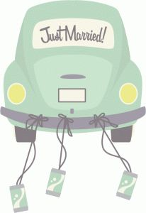 Silhouette Design Store - View Design #44767: just married car
