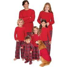 Lucoo Winter Outfits Set,Family Matching Xmas Pajamas Set Women Kid Dad Adult PJs Fun Sleepwear Nightwear