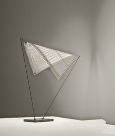 An LED Lamp That Floats Like a Sheet of Translucent Paper