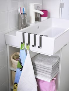 Make the most of a small bathroom and maximize space for everything.