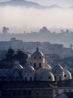 Xela, Guatemala  Igelsia Catedral early in the morning. www.cooperativeforeducation.org