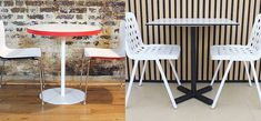 There are a number of variants that help to determine the type of cafe table that will be suitable for a project. From round to square, indoor or outdoor options, the search for a sufficient table could become daunting. Cafe Tables, Dining Chairs, Indoor, Furniture, Home Decor, Interior, Coffee Tables, Decoration Home, Room Decor