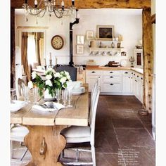farmhouse kitchen love