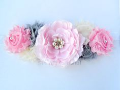 Pink Maternity Sash. Maternity Belt. Baby Shower by simplycutieful, $27.00
