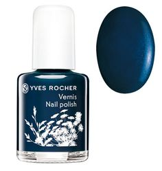 Yves Rocher Nail Polish - Midnight Blue - http://47beauty.com/nails/index.php/2016/10/17/yves-rocher-nail-polish-midnight-blue/ Yves Rocher Nail Polish – Midnight Blue  Mini nail polish � Maxi colour! Trendy nail polishes in small sizes to collect and to match any outfit or mood: – Nudes*: Snow White, Pastel Pink: subtle, shimmering shades with light coverage for a manicured look. – Frosted: Fuchsia, Red Berry, Pink Sorbet: bright shades with adaptable