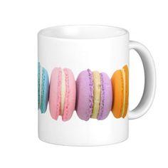 Macarons Classic White Coffee Mug Teapots And Cups, Teacups, Coffee Is Life, White Coffee Mugs, Tea Accessories, Cute Mugs, Coffee Cafe, Classic White, Mug Designs