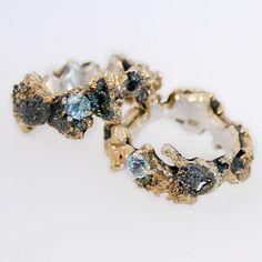 Under the Sea rings by Karolina Bik// #BestFineJewelry Jewelry Rings, Jewelry Box, Jewelry Accessories, Fashion Accessories, Fashion Jewelry, Unique Jewelry, Jewlery, Gold Jewelry, Diamond Jewelry