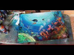 Spray paint art tutorial coral reefs by Porfirio Jimenez C. Welcome http://www.porfiriojimenez.me http://www.porfiriojimenezc.wix.com/sprayart