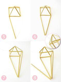 DIY Geometric Himmeli Party Decor - BirdsParty.com