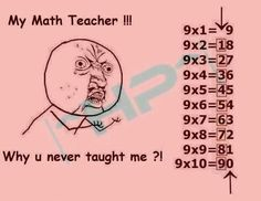 My math teacher by Want to pin this in humor but oh my this will come in handy when little miss starts learning this! Funny Shit, The Funny, Hilarious, Funny Stuff, Odd Stuff, Funny Pins, Random Stuff, Math Teacher, Teaching Math