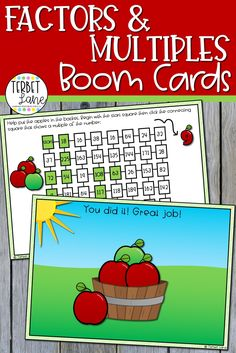 This set of math Boom Cards makes learning about multiples of a number more fun. Students practice finding the multiples of 2 numbers with these two completely digital activities. Perfect for math centers, distance learning, and homeschool. Kindergarten Math Activities, Interactive Activities, Math Games, Maths, Math Rotations, Math Centers, Math Strategies, Learning Resources, Mathematics Games