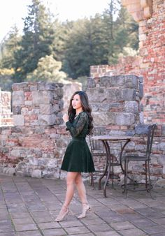emerald jewel tones holiday party outfit by extra petite blog